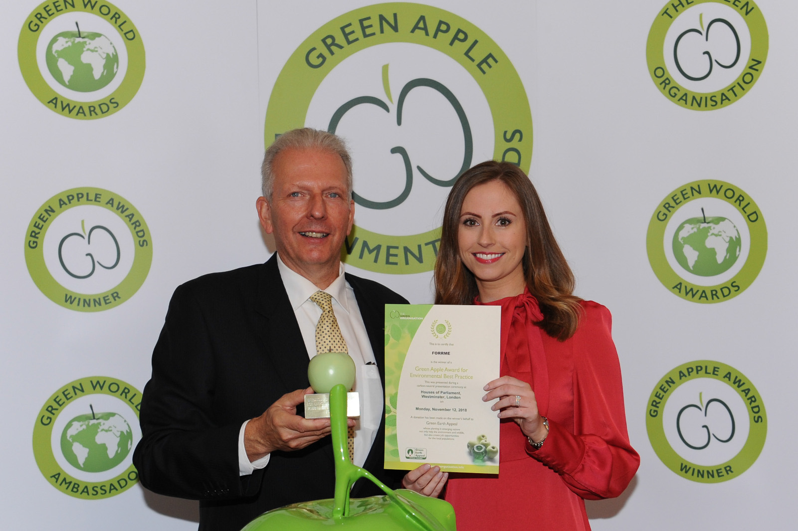 Recognition for FORRME at 2018 Green Apple Awards