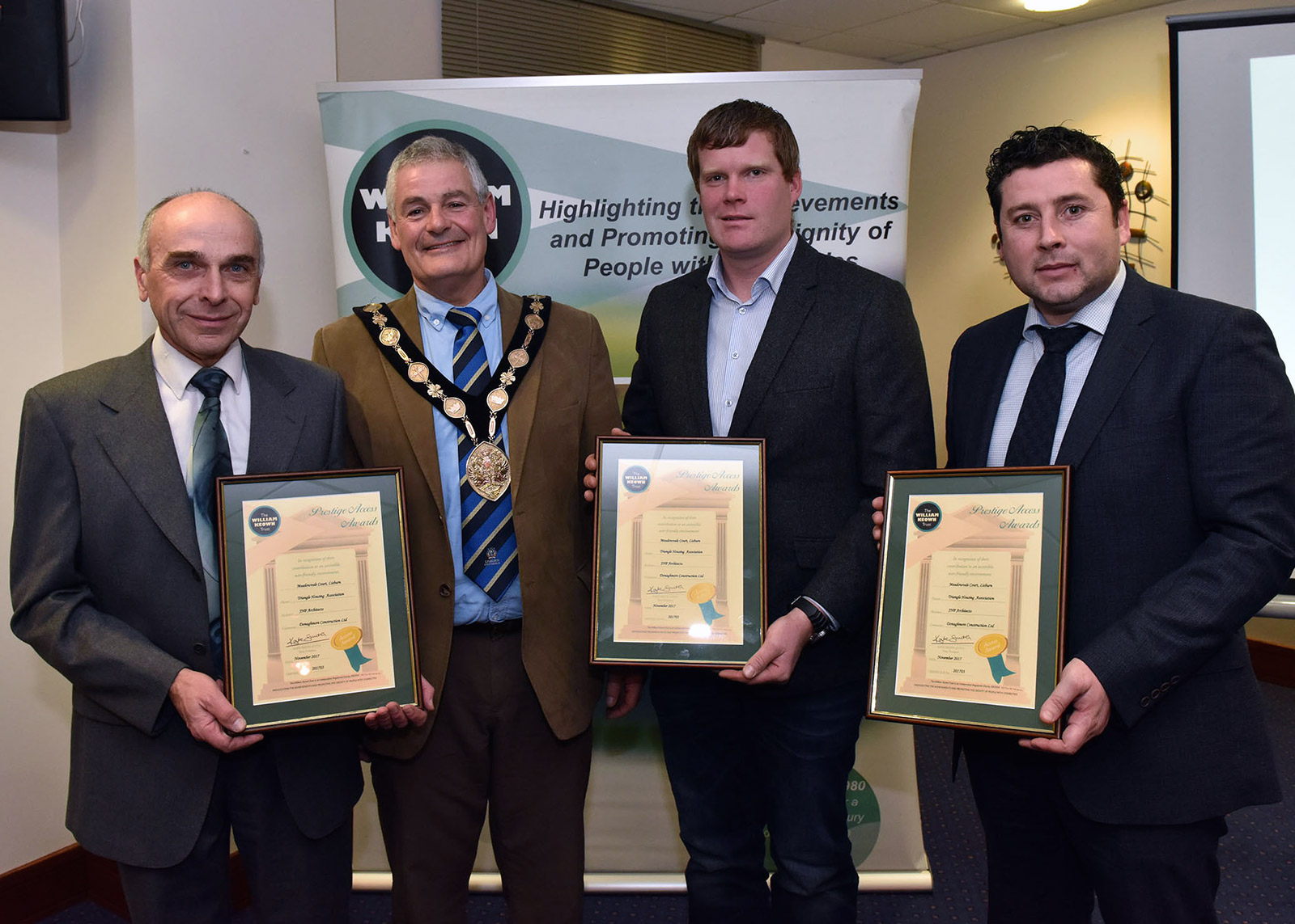 Meadowvale Court presented with Prestige Access Award by William Keown Trust