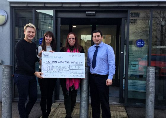 Presentation of cheques to nominated charities – Action Mental Health and Autism NI